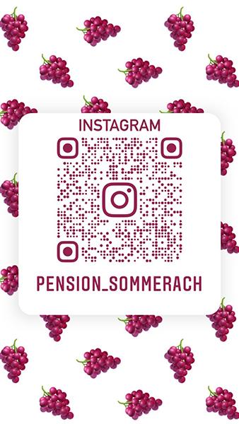 Instagram Profil der Pension Sommerach